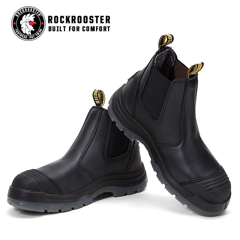 f952d974aa5 BAKKEN---ROCKROOSTER AK Series Men's work boots Ankle height elastic ...