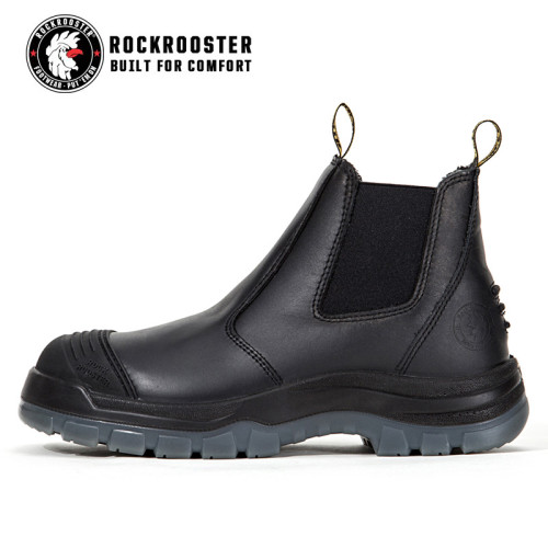 BAKKEN---ROCKROOSTER AK Series Men's work boots Ankle height elastic sided boots with steel toe cap