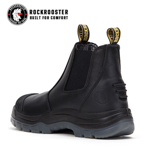 BAKKEN---ROCKROOSTER AK Series Men's work boots Ankle height elastic sided boots with steel toe cap