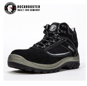 GUILDFORD---ROCKROOSTER safety shoe with suede leather -AM607 BK