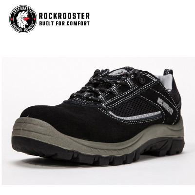 SUNDERLAND---ROCKROOSTER safety shoe with suede leather -AM606 BK
