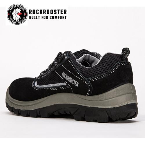 SUNDERLAND---ROCKROOSTER safety shoe with suede leather -AM606 BK