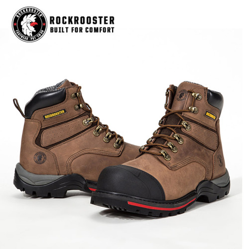 REDINGTON---ROCKROOSTER AP Series Men's work boots Lace up boots with composite toe cap