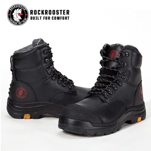 KNOX---ROCKROOSTER AK Series Men's work boots Lace up ankle boots with steel toe cap