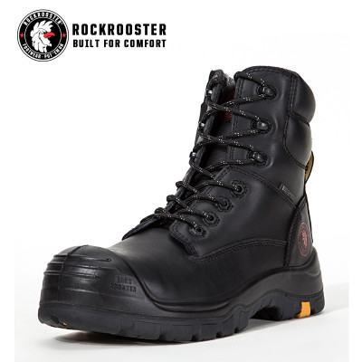 HOVEN---ROCKROOSTER AK Series Men's work boots Zip-sided ankle boots withcomposite toe cap PU/Rubber outsole