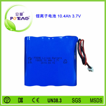 3.7V ICR18650 10.4Ah锂电池组