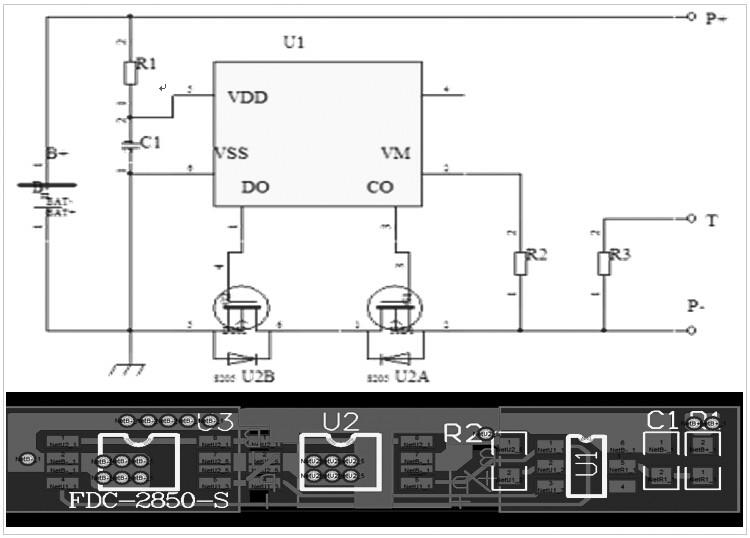 1S10P锂电池电路图