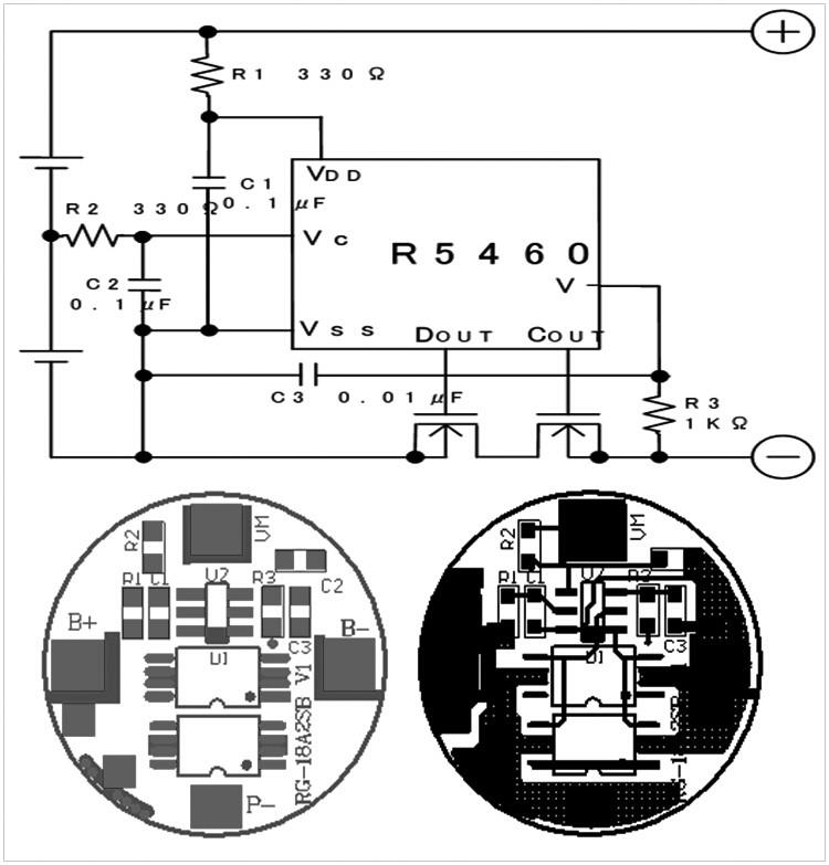 2S1P锂电池电路图