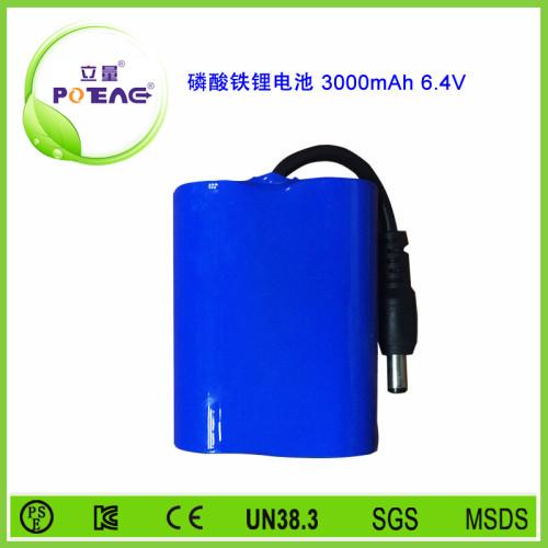 6.4V 26650 3000mAh磷酸铁锂电池组