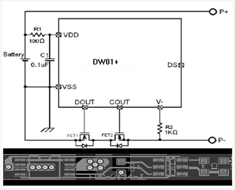 聚合物锂电池电路图