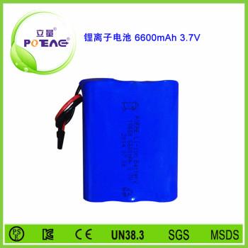 3.7V ICR18650 6600mAh锂电池组