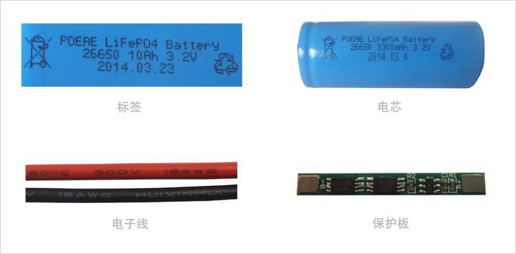 3.2V锂电池细节图