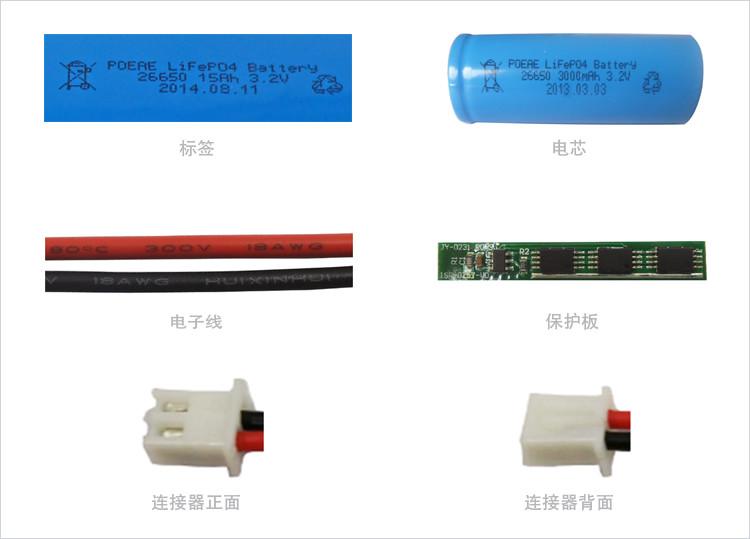26650锂电池细节图