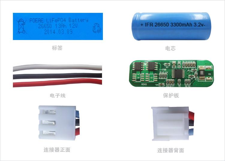 13Ah锂电池细节图