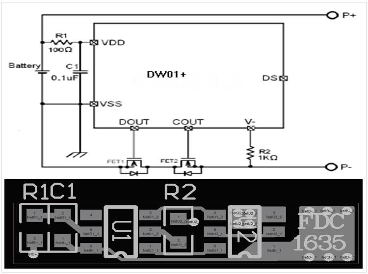 聚合物电池电路图