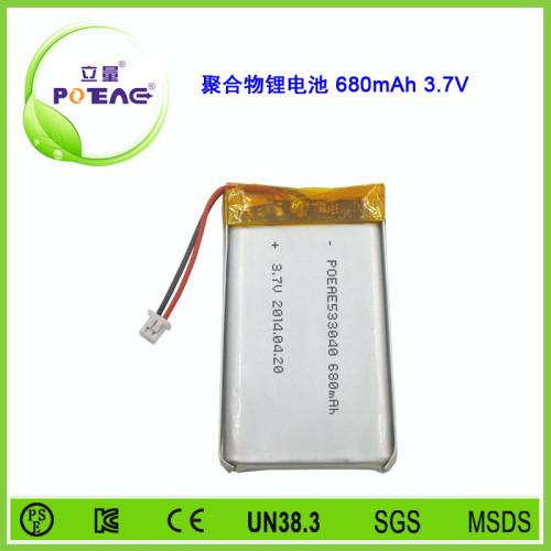 型号533040 680mAh 3.7V 聚合物锂电池可定制