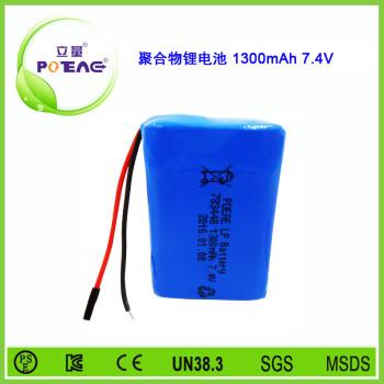 型号783448 1300mAh 7.4V 聚合物锂电池可定制