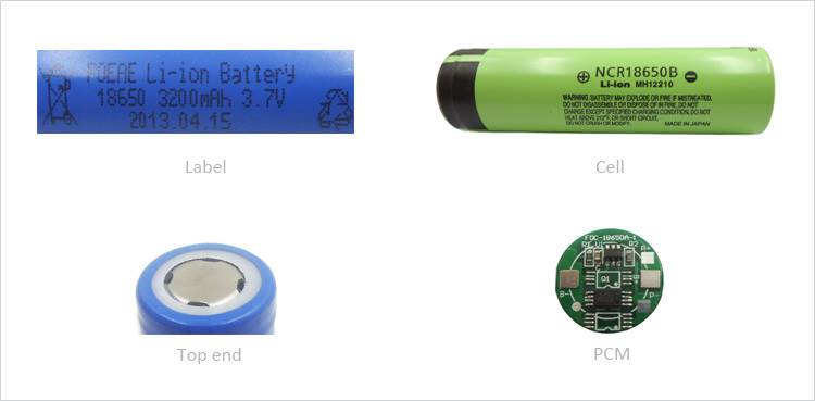 Detail drawing of lithium battery