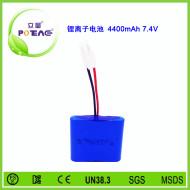7.4V ICR18650 4400mAh锂电池组