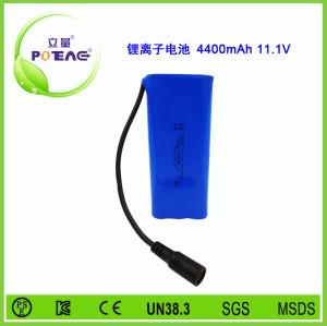 11.1V ICR18650 4400mAh锂电池组