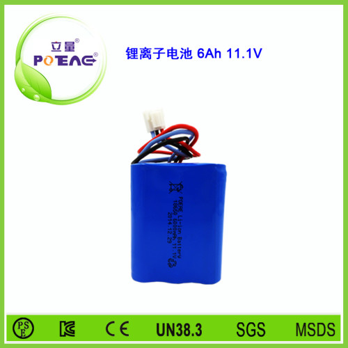 11.1V ICR18650 6000mAh锂电池组