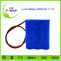 3s1p 11.1v rechargeable 18650 li-ion battery pack storage for solar generator China