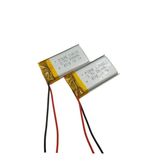 Small rechargeable 3.7V 300mAh li polymer battery 502035 for head light