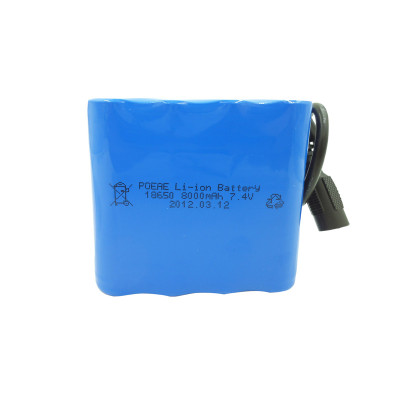Wholesale 18650 8ah 7.4v li-ion rechargeable battery pack for medical devices outdoor led lighting China