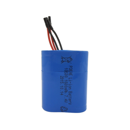 2S1P rechargeable 7.4v 1600mah li-ion battery for pos machine led lamp Dongguan