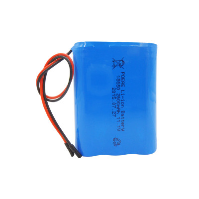 Rechargeable 3S1P 12V 2600mah li-ion 18650 battery pack for telescope toy cars Russia