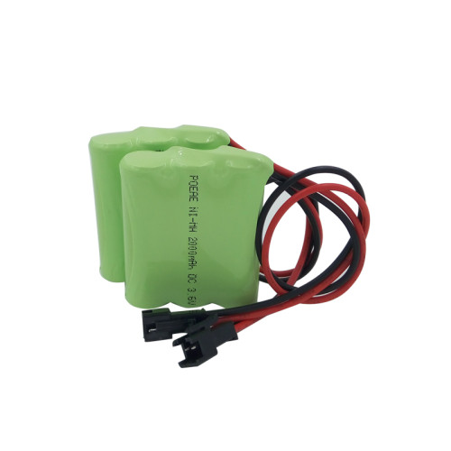 Long cycle life ni-mh aa 3.6v 2000mah rechargeable battery pack for communicate equipment