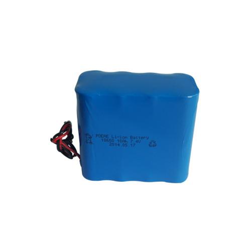 Rechargeable 2S5P 18650 10Ah 7.4v lithium ion battery pack for loudspeaker camera Korean