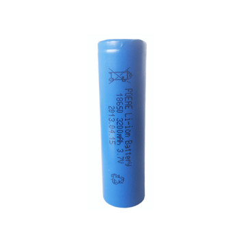 18650 3.7v 3200mah lithium battery size rechargeable for torch flash light in China