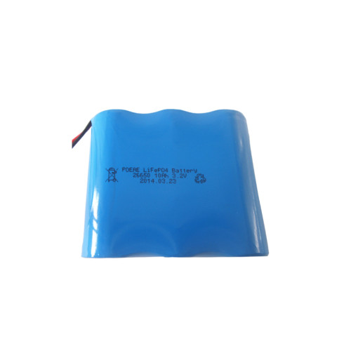 Custom 26650 1s3p 3.2v 10ah rechargeable battery power for homes solar lights in Dongguan