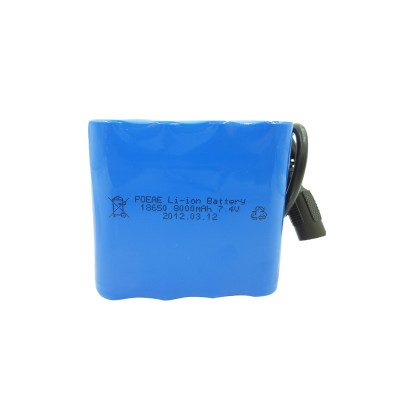 2s4p 18650 7.4 volt 8ah rechargeable battery for solar panel/remote control india