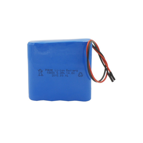 18650 14.8v 5200mah li-ion battery pack for power tools lawn mower China
