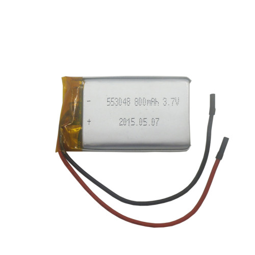 3.7v 800mah flat rechargeable lipo battery for car remote control/gps tracker in Franch