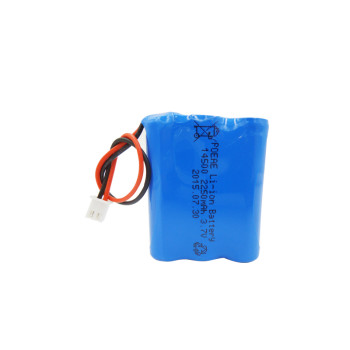 2250mah 3.7v 14500 li-ion rechargeable battery pack for camping lantern emergency light China