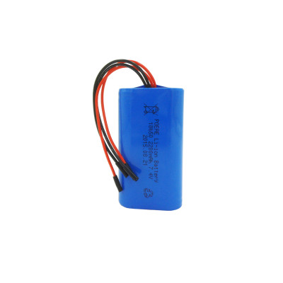 7.4vdc 2200mah li-ion 18650 2s1p battery for portable dvd player/ digital weighing scale made in China