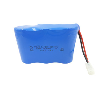 CE approved 32650 li-ion 3s1p 12v 7000mah battery high drain for cctv/lawn mower in UK