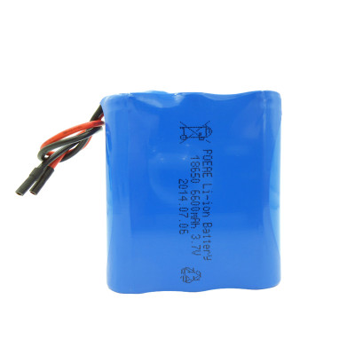 Japan cell 3.7V 6600mAh 18650 rechargeable li ion battery pack for LED curing light Dongguan