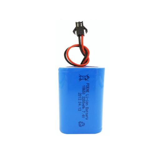 Customized 18650 7.4v 2200mah lithium ion battery pack for flashlight christmas lights China