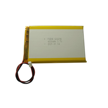 portable 606090 3.7v 4000mah lithium polymer battery with PH 2.0 connector