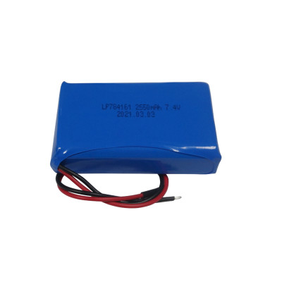 customized 784161 rechargeable 2s lipo battery pack 7.4v 2250mah