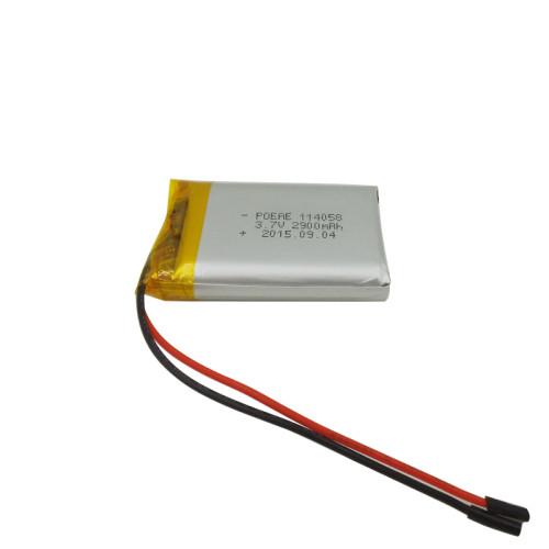 single 114058  battery 3.7v 2900mah rechargeable li polymer battery