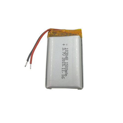 custom China 103048 3.7v 1500mah rechargeable lipo battery