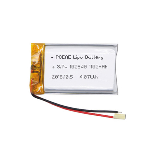 rechargeable 102540 3.7v 1100mah li polymer battery for multi-functional use
