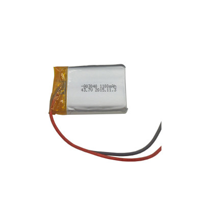Customized 8.0mm thickness series rechargeable lipo battery 803040 1100mah 3.7v battery