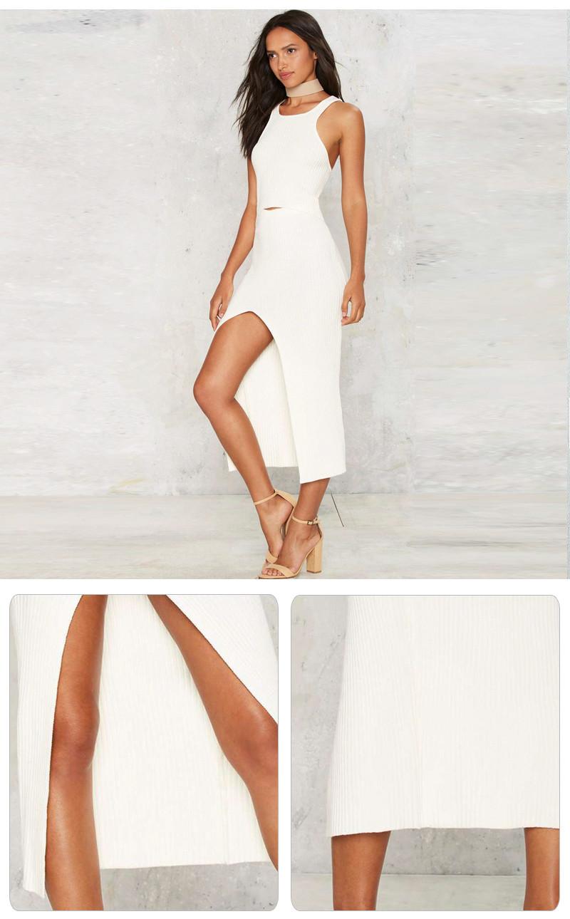 Slim Fit Front Slit Party Dress