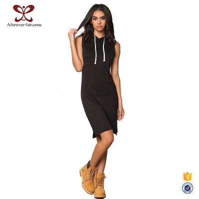 European Off-Shoulder Sleeveless Women Slim Fit Long Sexy Hoodies China